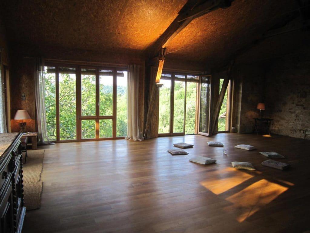 salle gîte - Ahimsa yoga Toulouse et Launaguet